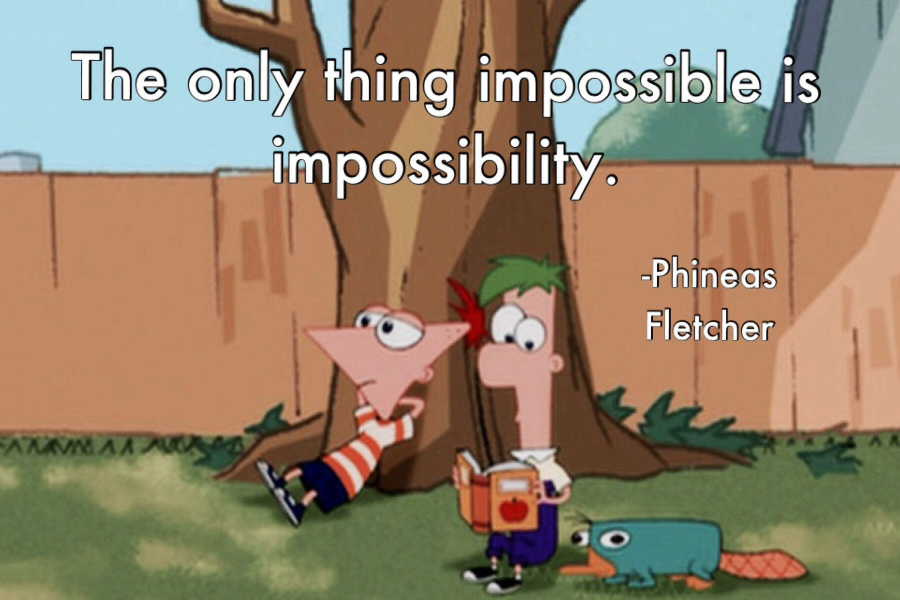 Image result for the only thing that impossible is impossibility gif