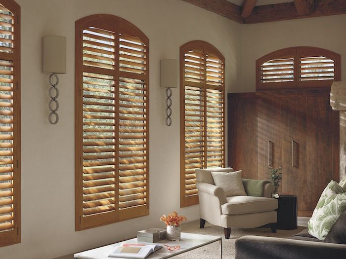 Room · Arched Living Room Shutters By Window Designs ...