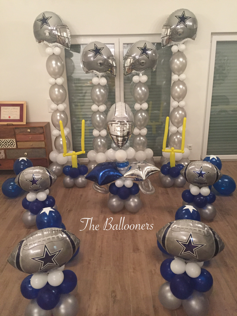 dallas cowboys party decoration ideas iron blog. Black Bedroom Furniture Sets. Home Design Ideas