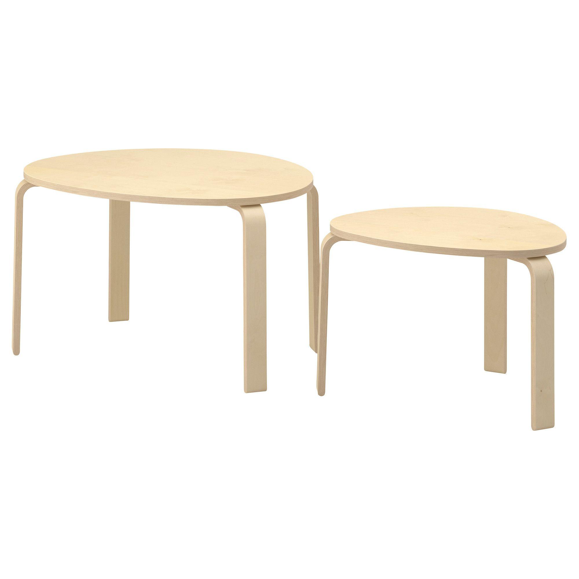 IKEA - SVALSTA Nesting tables, set of 2 birch veneer | Pinterest ...