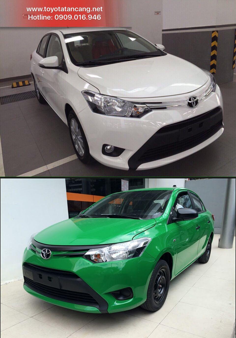 Toyota vios 2016 m u tr ng v xanh l c y