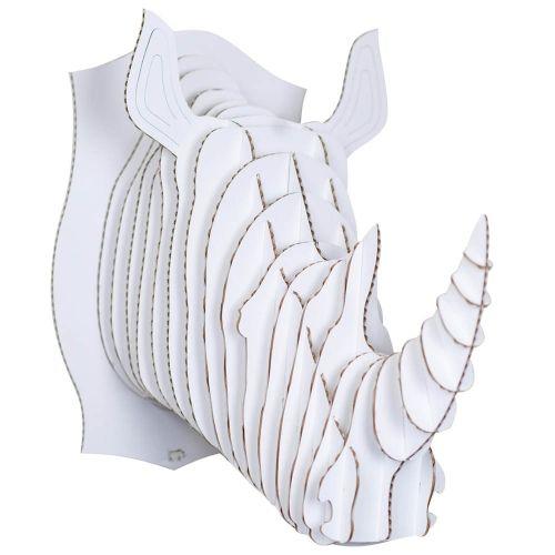 robbie le rhinoc ros large troph e mural en carton de cardboard safari troph es de chasse. Black Bedroom Furniture Sets. Home Design Ideas