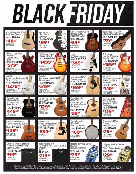 Black Friday Guitar Deals Best Guitar Discounts Http Gazettereview Com 2017 11 Black Friday Guitar Deals Best Guitar Sam Ash Black Friday Black Friday Ads