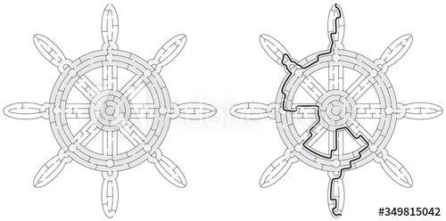 Ships wheel maze #AD , #Ships, #wheel, #maze
