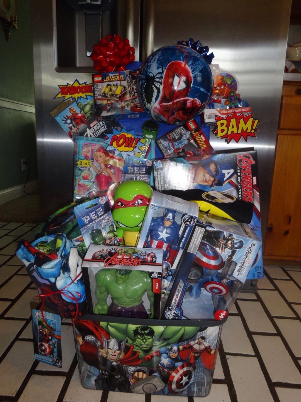 superheros raffle basket super heros