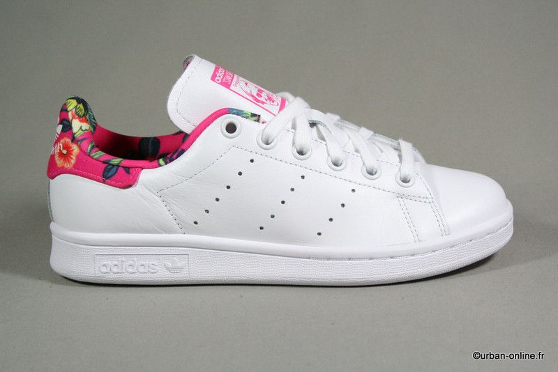 ADIDAS Stan Smith rose à fleurs - Urban Online
