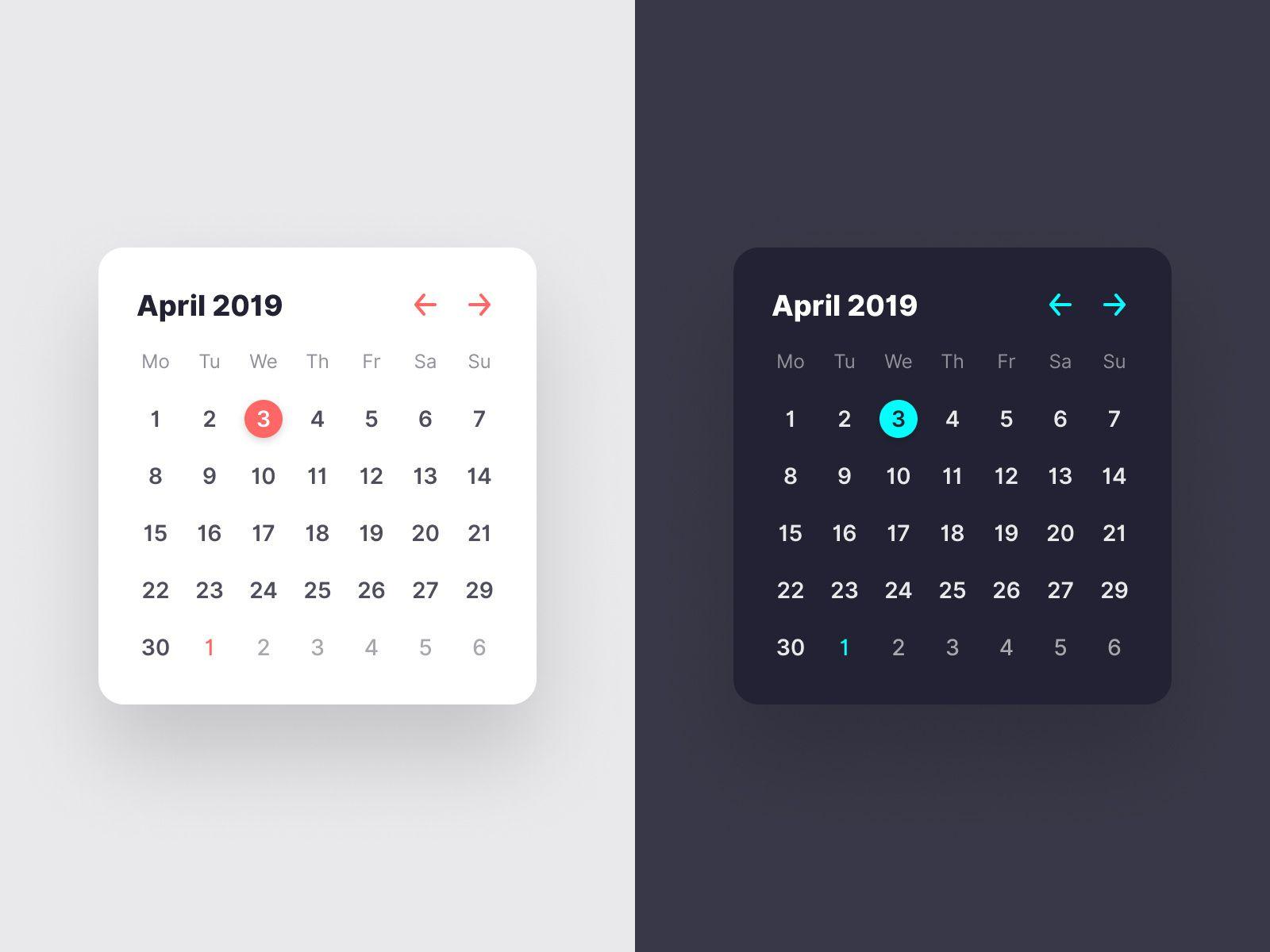 Calendar Widget Calendar Widget Calendar Show Tell