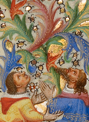The imaginative world of marginalia as viewed in select pages of two late medieval manuscripts