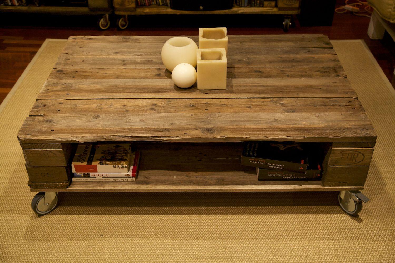 Mesa hecha con palets - Eisenheim | Mesitas auxiliares, Mesas hechas ...