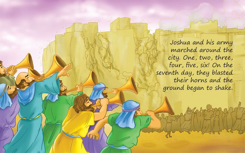Walls of Jericho Coloring Pages   Joshua and the Walls of Jericho ...