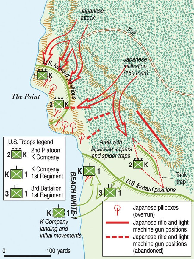Storming The Point At Peleliu History War Battle Of Peleliu