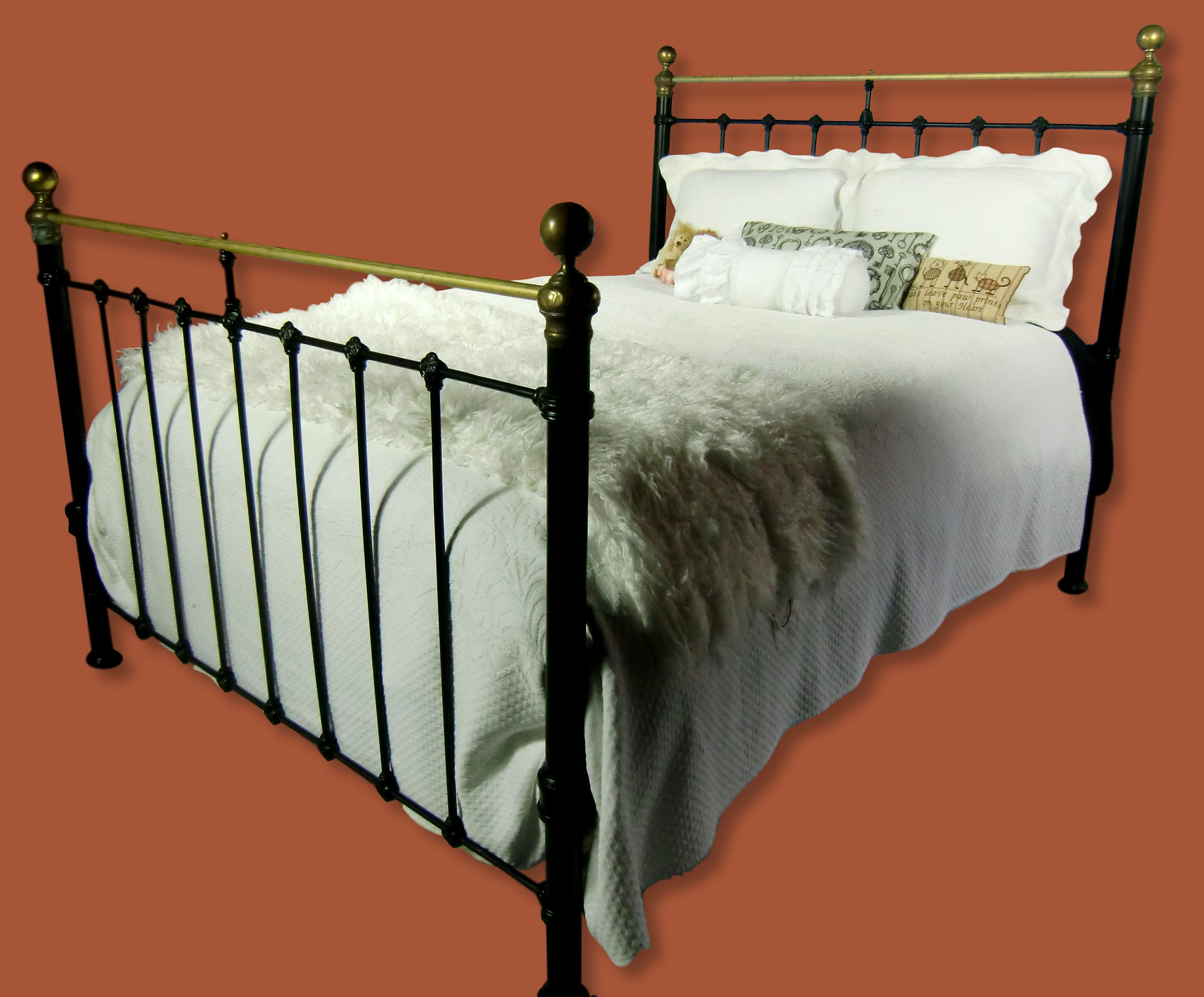 Queen Antique Cast Iron And Brass Bed Antique Wrought Iron Bed
