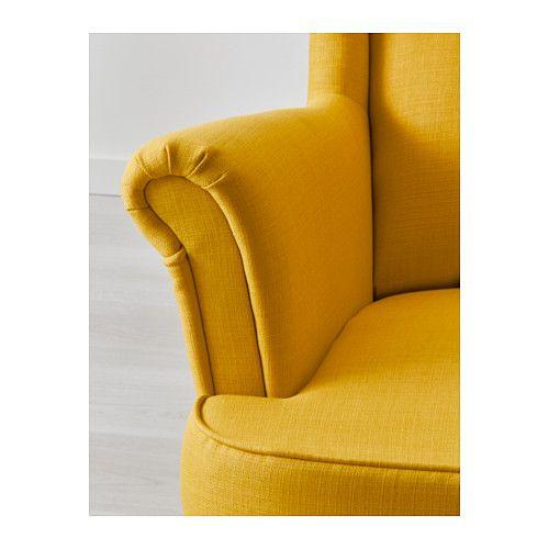 STRANDMON Lepotuoli - Skiftebo keltainen - IKEA