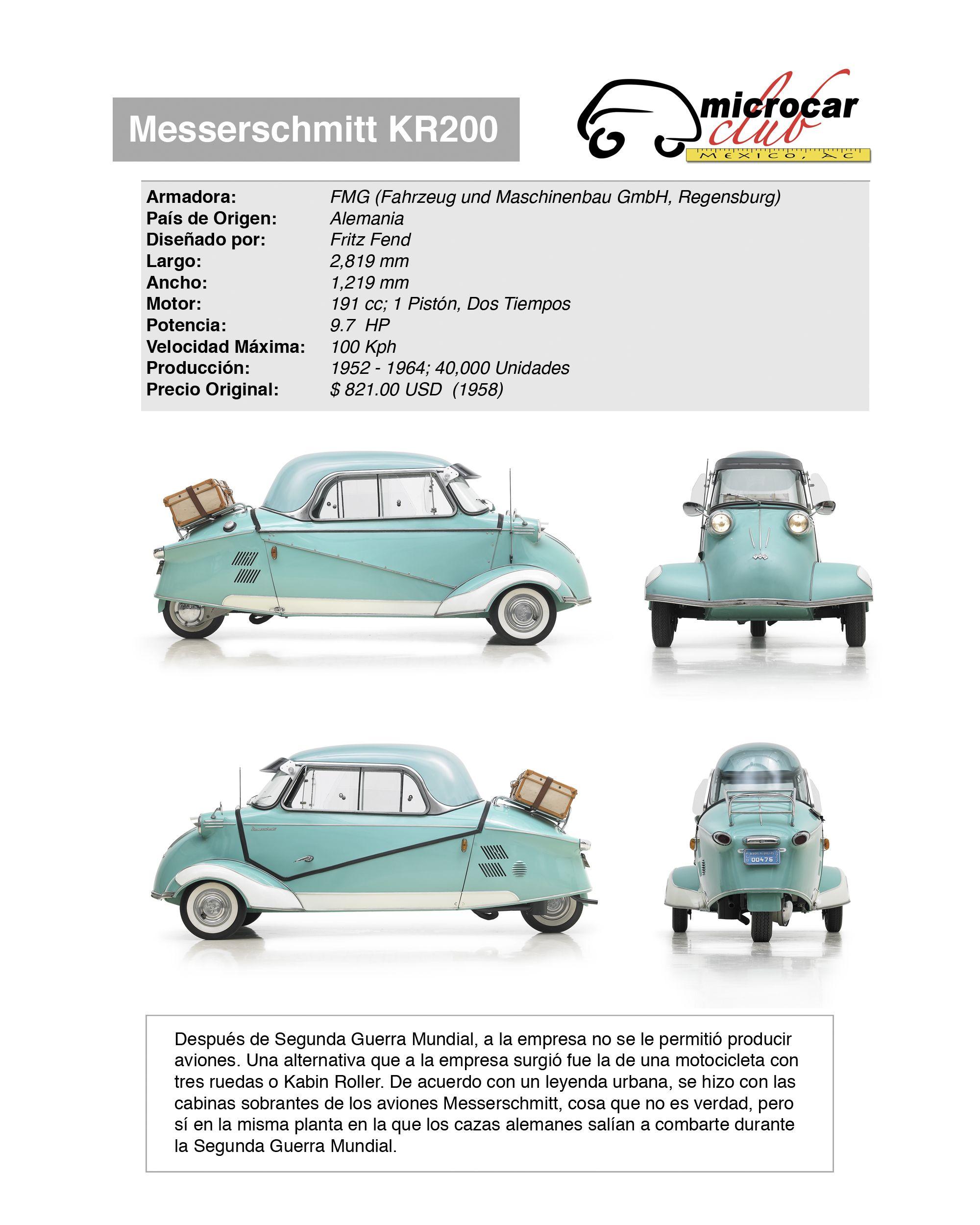 Messerschmitt KR200 1959 | DESIGN- CARS | Pinterest | Reverse trike ...