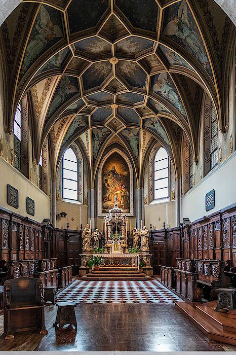 Apse. Ancient cathedral of Gorizia. Friuli, Italy by Nicola Simeoni