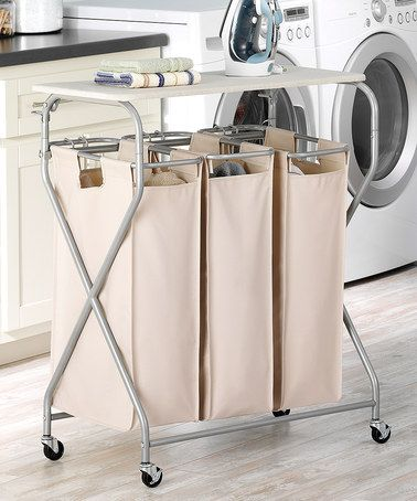 Easy-Lift Triple Laundry Sorter & Table #zulily #zulilyfinds