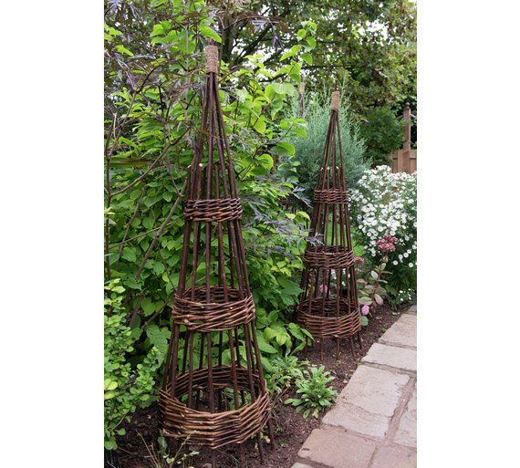 Buy Forest Garden Concentric 1 5m Willow Obelisk 2 Pack At Argos Co Uk Visit Argos Co Uk To Shop Online For Garden Willow Garden Willow Fence Garden Living
