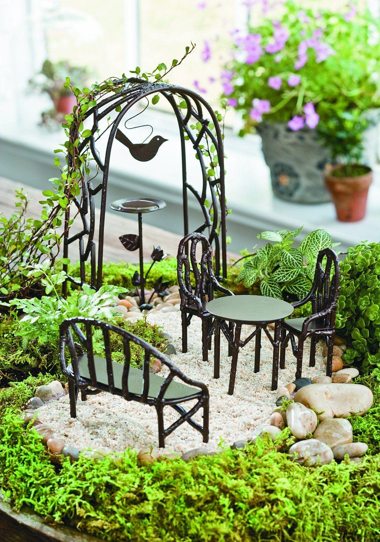 Amazon Com Wildewood Miniature Fairy Garden Starter Kit Patio