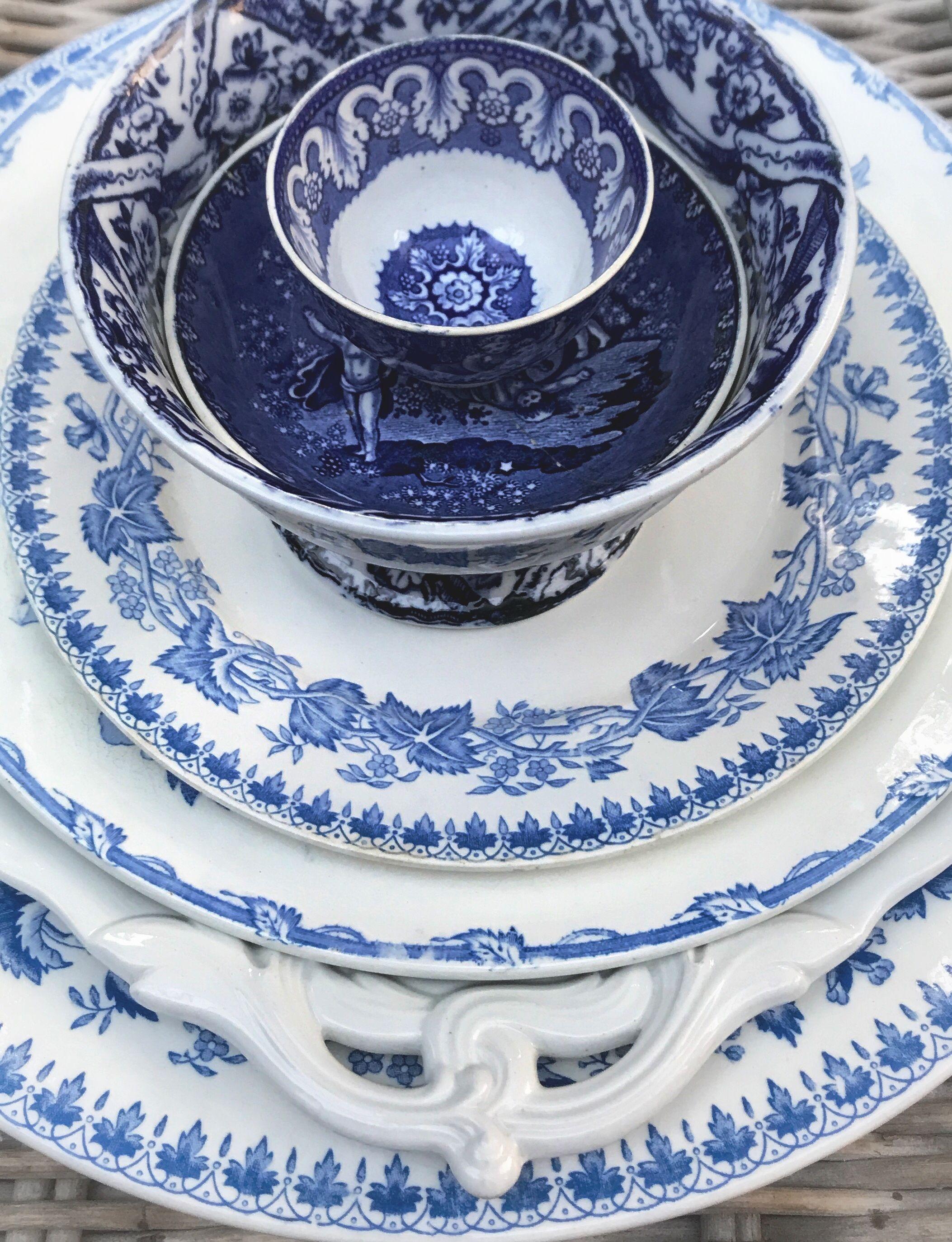 Details.... blue Geranium, Etruria, Packhorse, Lion Antique and ...