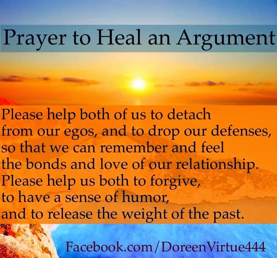 PRAYER TO HEAL AN ARGUMENT ~ DOREEN VIRTUE | ☀ Soulful