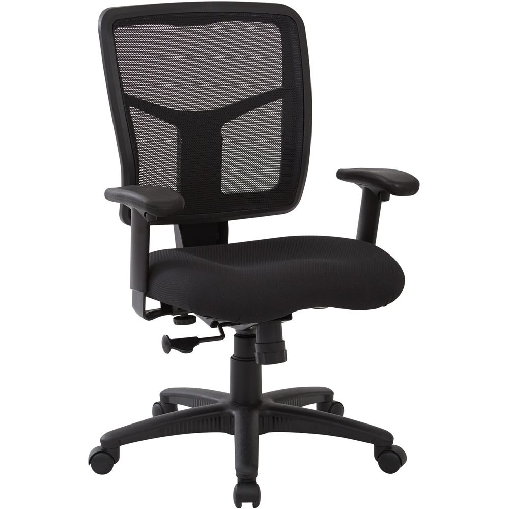 Worksmart Spx Series 5 Pointed Star Fabric Office Chair Black