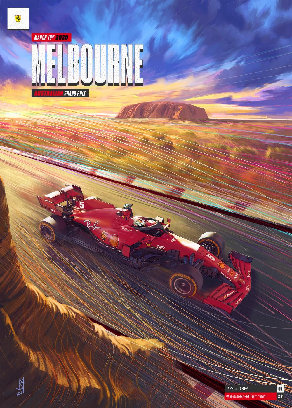 2020. 1. in 2020 Australian grand prix, Melbourne, Grand