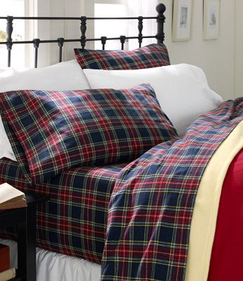"""Heritage Chamois Flannel sheet set in """"Macbeth"""" by LL Bean 