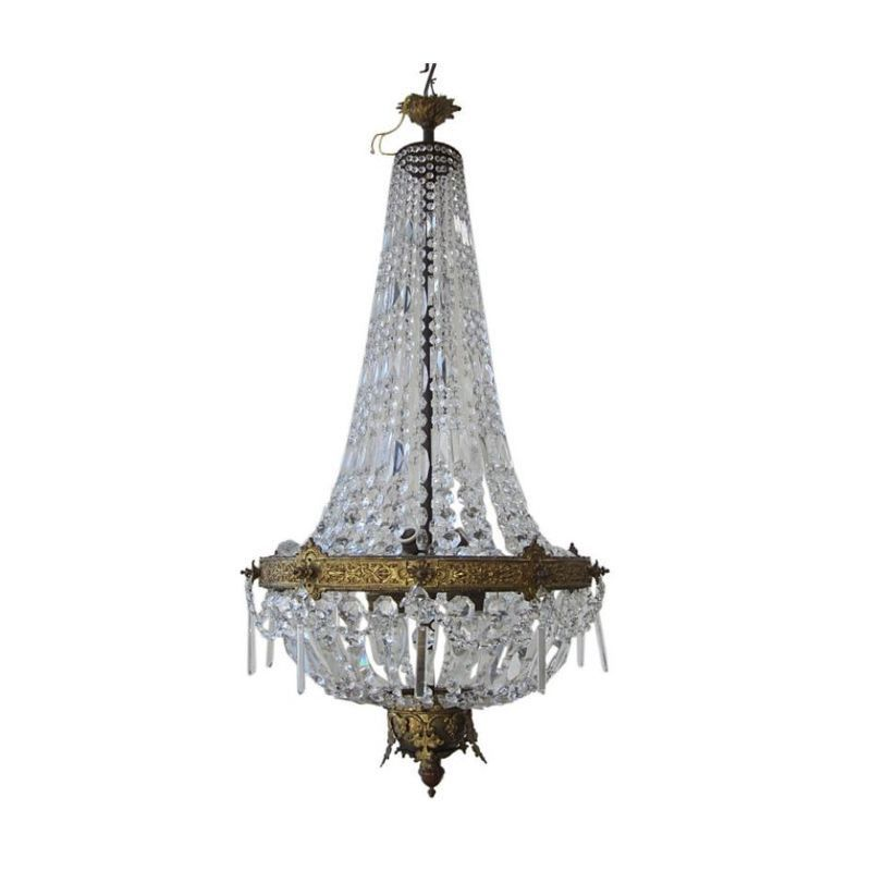 Regal French Crystal Chandelier