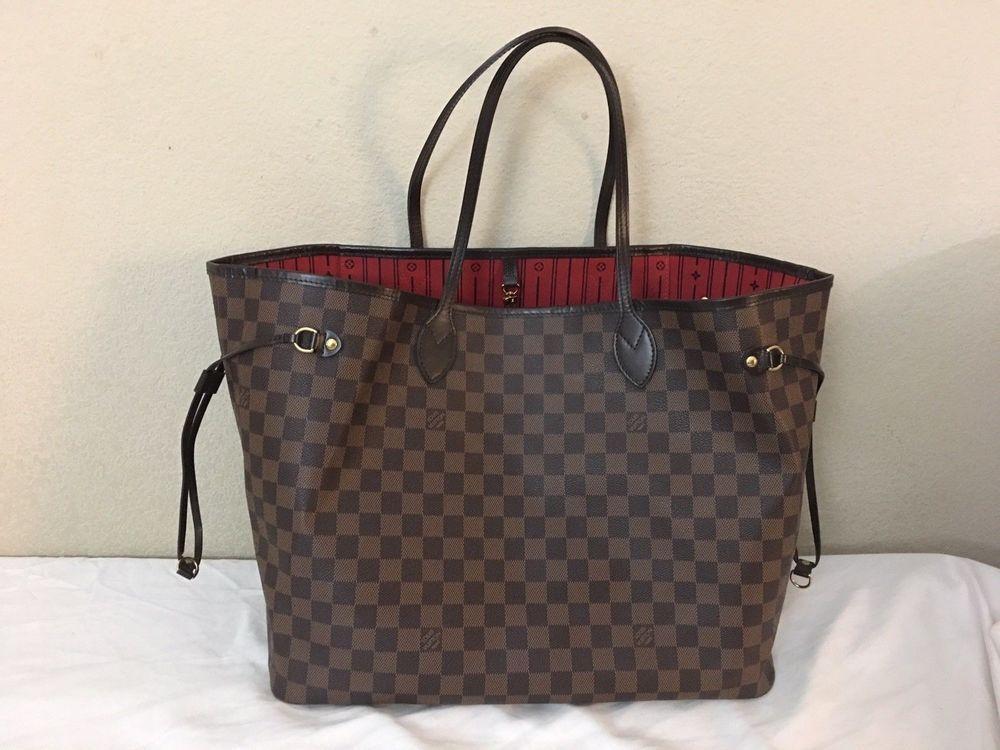 16ce9a78a98e Authentic Louis Vuitton Damier Ebene Canvas Neverfull GM Shoulder Bag   fashion  clothing  shoes  accessories  womensbagshandbags (ebay link)
