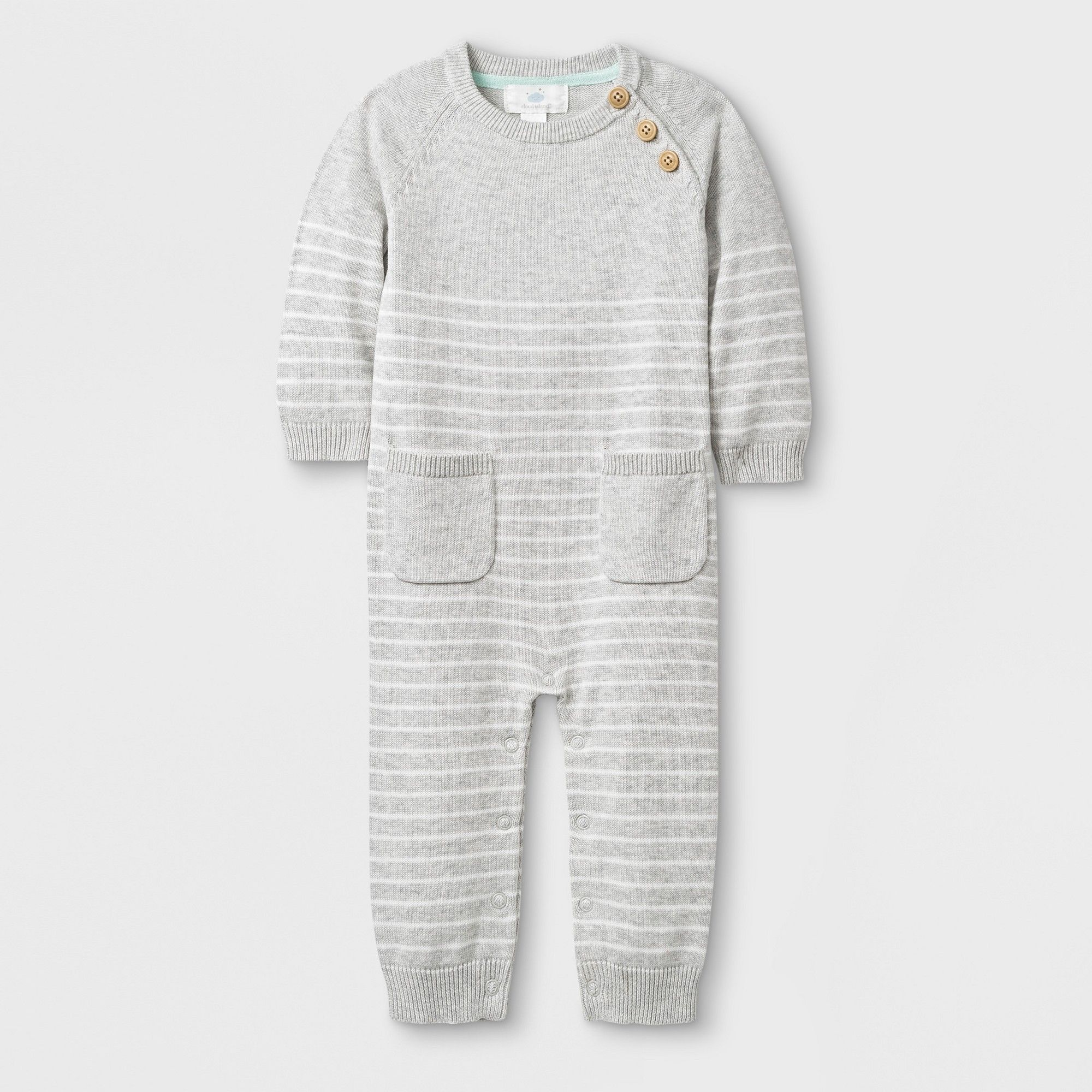 207cc66c26f Baby Long Sleeve Romper - Cloud Island Gray Newborn