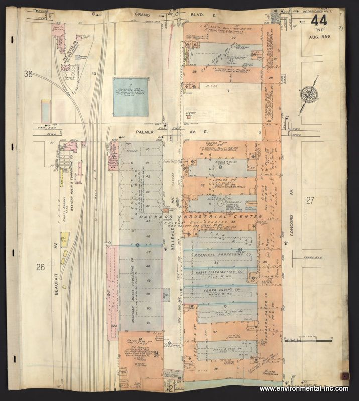 Concord Michigan Map.Packard Sanborn Fire Insurance Maps Clark Library University Of