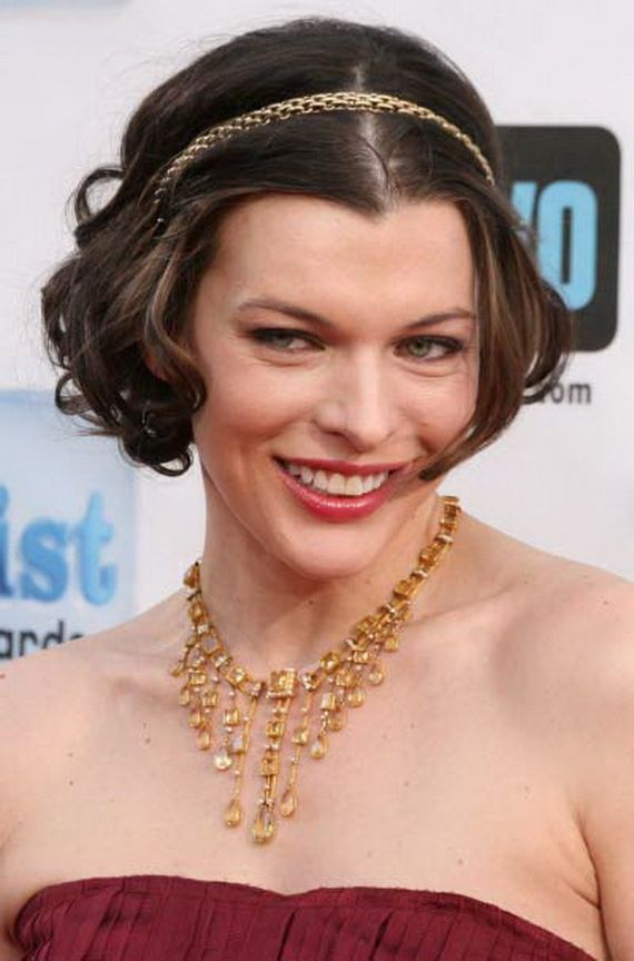 Hairstyles for a Wedding Guest | Milla jovovich