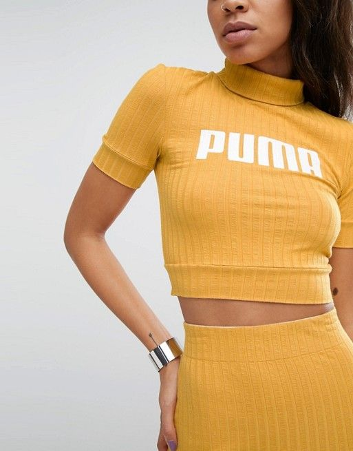 Puma Exclusive To ASOS Ribbed Crop Top  ee96046f6e2