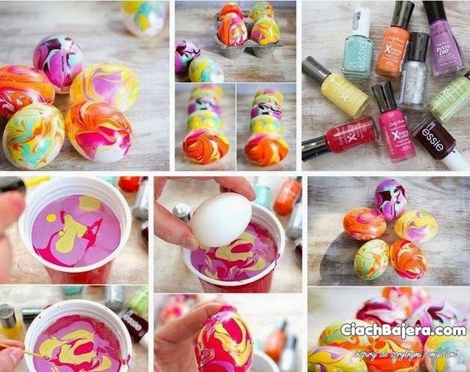 Kolorowe pisanki malowane lakierami do paznokci - Ciach-bajera.pl - Ułatw sobie życie sprytnymi pomysłami