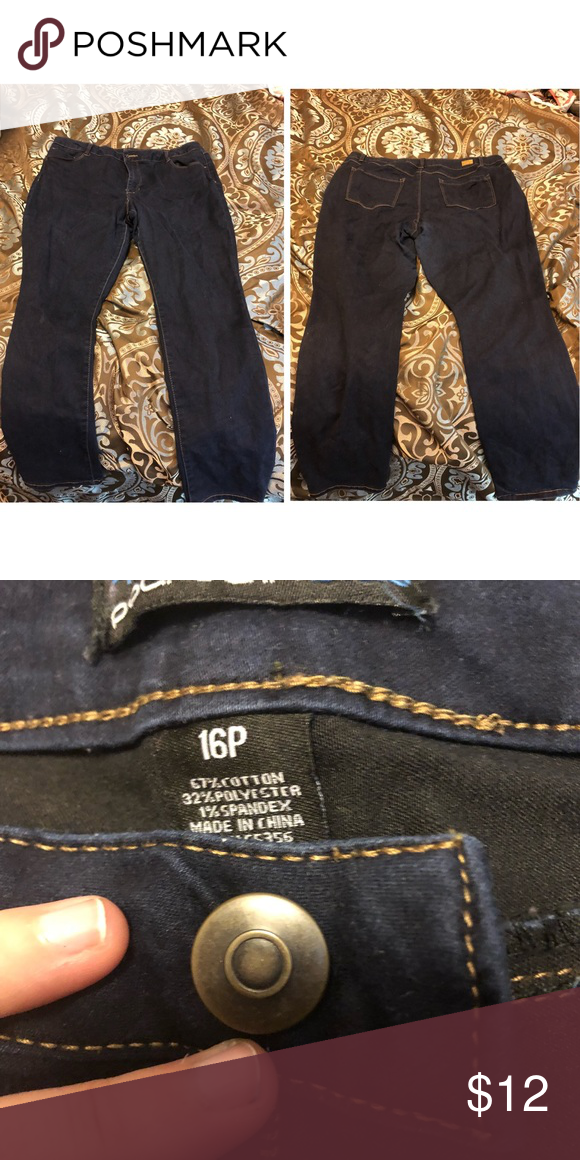 Dark Blue Skinny Jean Size 16p Plus Size These Jeans Are A Dark Blue Colored Skinny Jean Brand Miss Poured In Blue Super Comfy And Dark Blue Skinny Jeans Colored Skinny