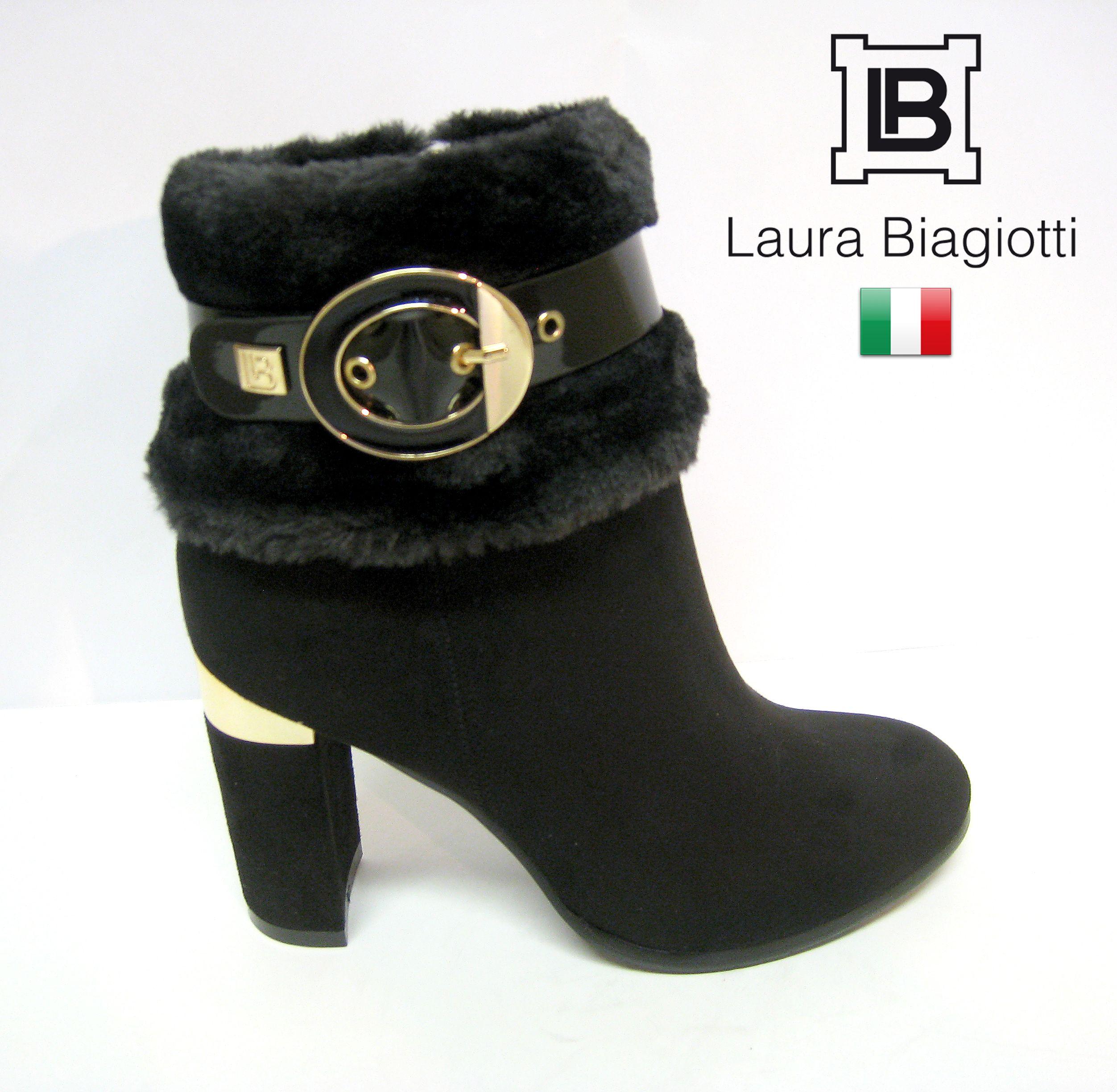 b5b2a8e92 Podzimně zimní elegantní kotníková obuv LAURA BIAGIOTTI na podpatku. #obuv  #styl #LauraBiagiotti #dámská #móda #kotníková
