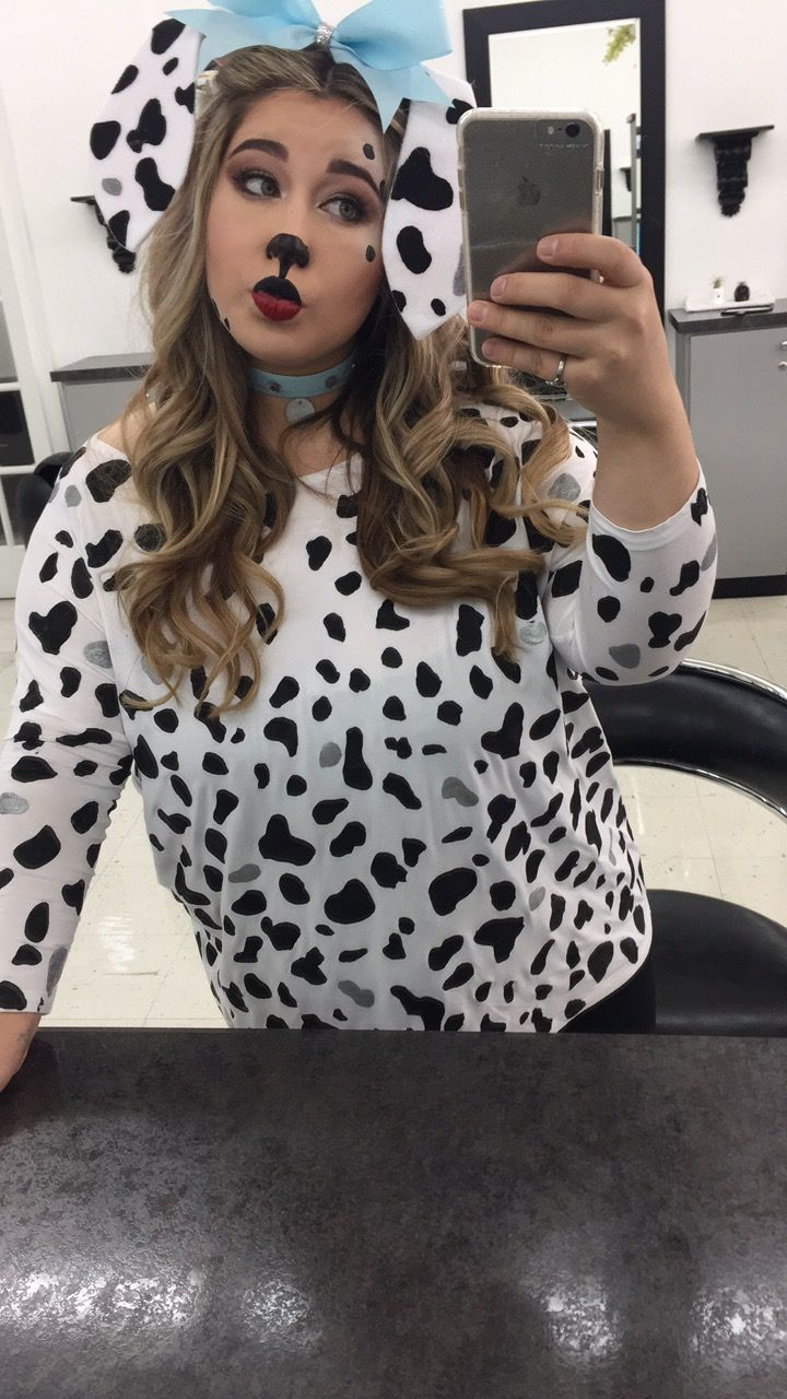 diy dalmatian costume makeup halloween ideas pinterest dalmatian costume costume makeup. Black Bedroom Furniture Sets. Home Design Ideas