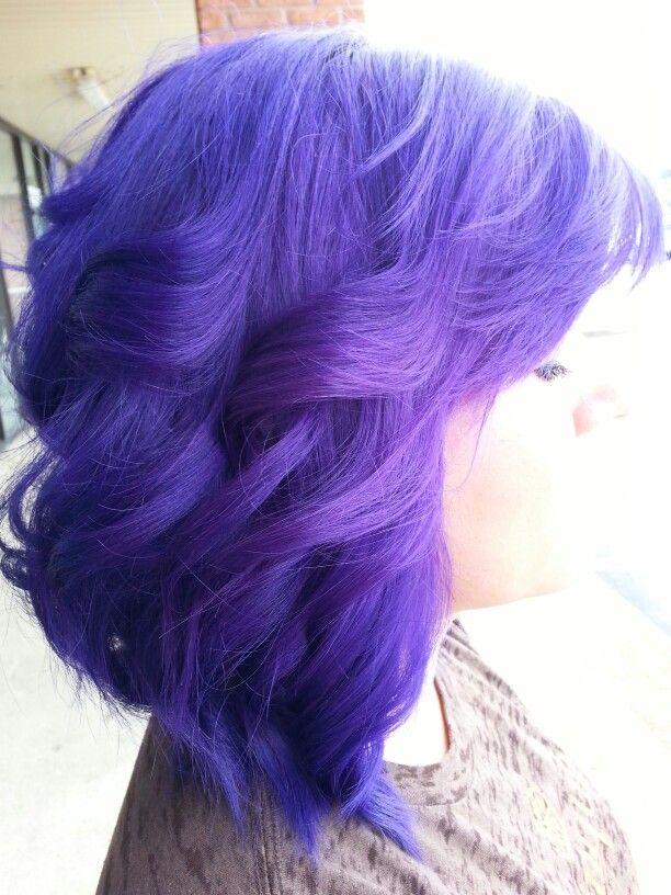 Pravana Vivids Violet, perfect purple hair! #sarahlivesay @Vanitysalonmemphis