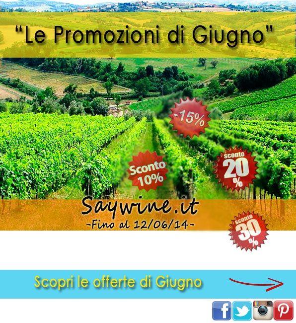 Le promozioni di Giugno '14 - Fino al 12/06/14 - http://www.saywine.it/vini-offerta.aspx
