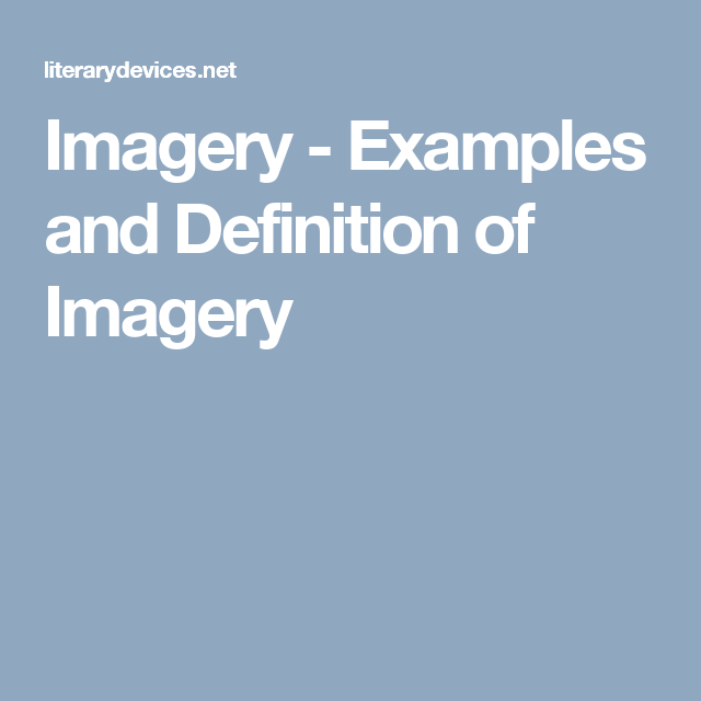 Imagery Examples And Definition Of Imagery Homeschooling