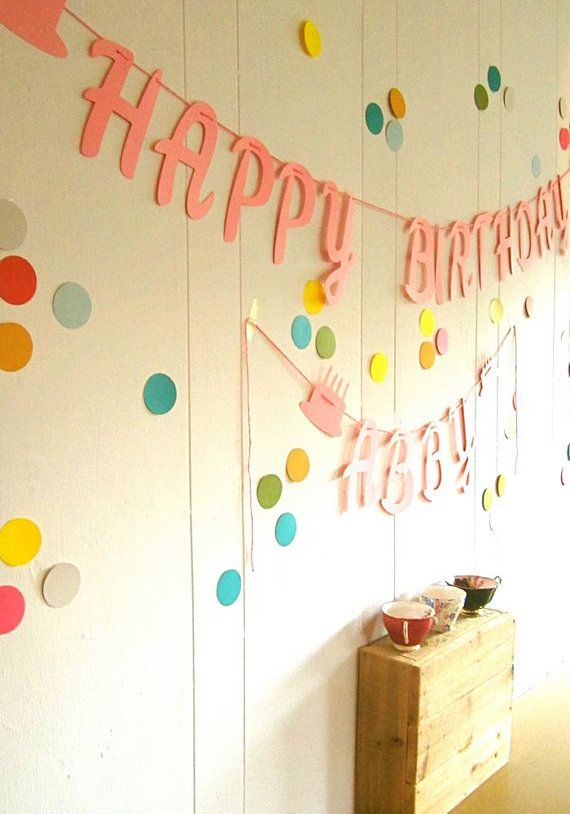 happy birthday banner with name polka dot party available polka