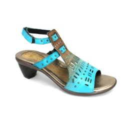 The #Naot Vogue HP heel in #teal is a great statement shoe for a