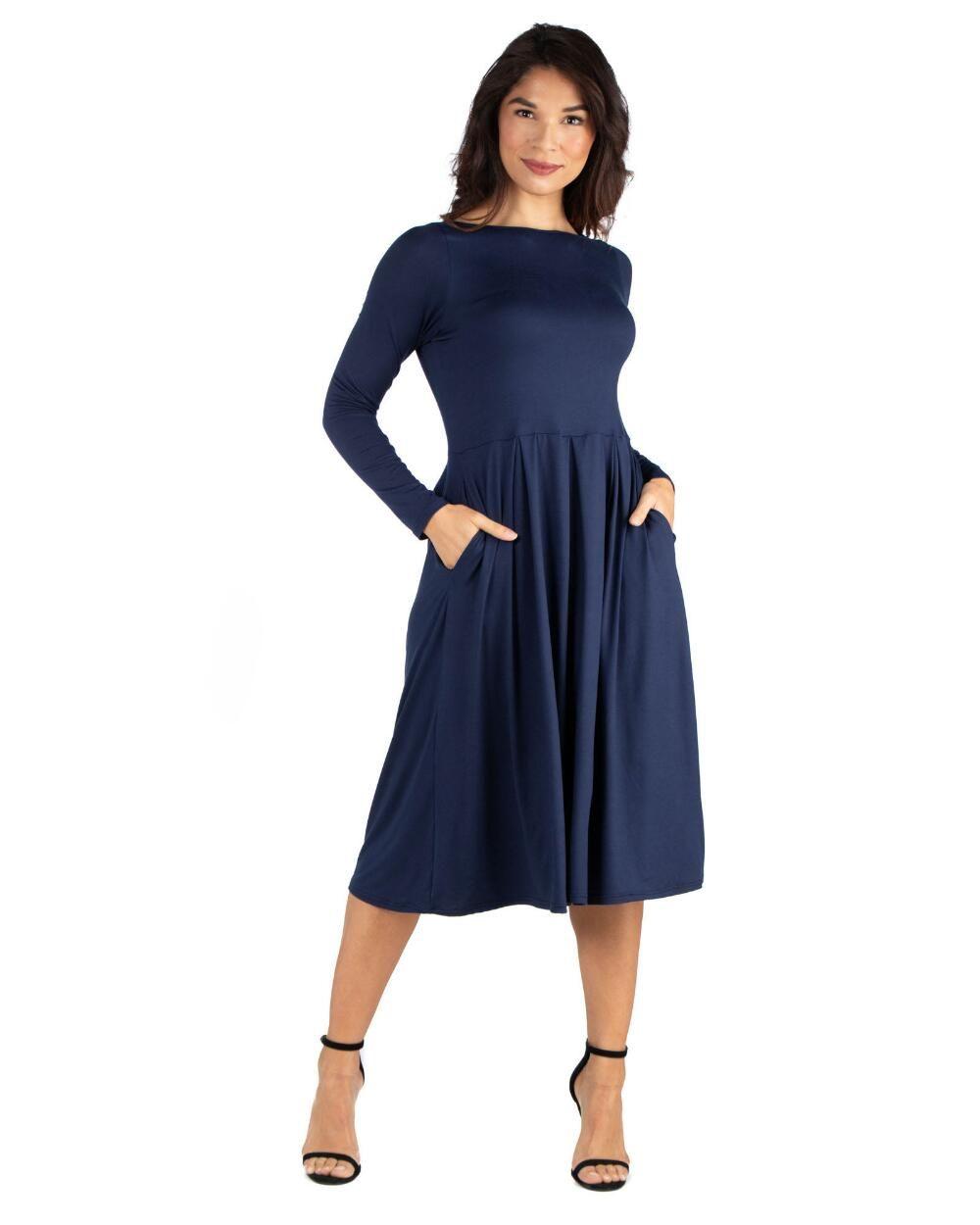 Fit and flare midi dress dresses fit flare flare dress