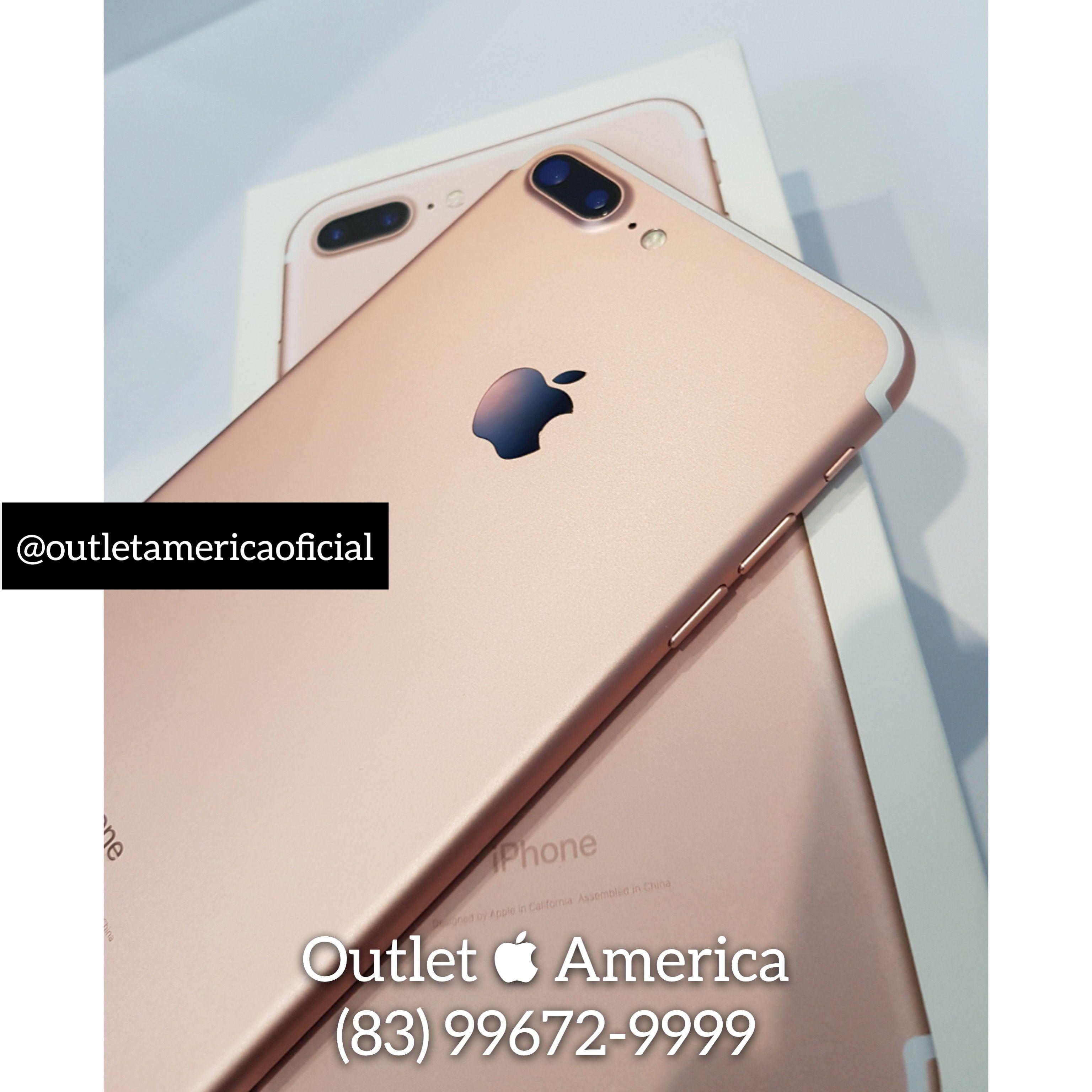 iPhone 7 Plus Rose Menor pre§o do BRASIL Instagram outletamericaoficial