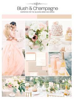 Blush And Champagne Wedding Inspiration Board Color Palette Mood Via Weddings Ilrated Best Stuff