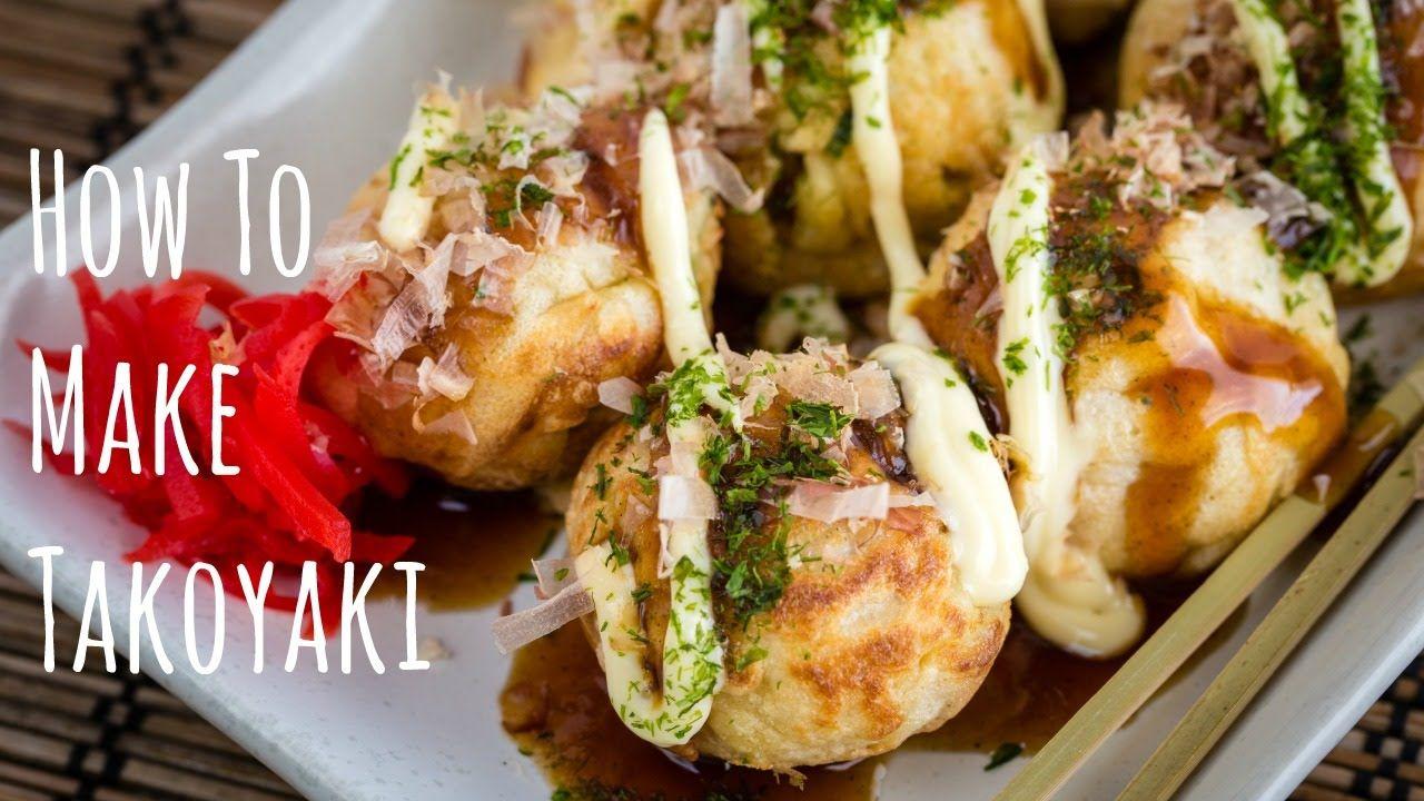 Japanese Food How to Make TAKOYAKI Food, Japanese