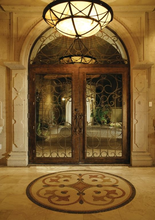 Awesome Mediterranean Style Entry Doors