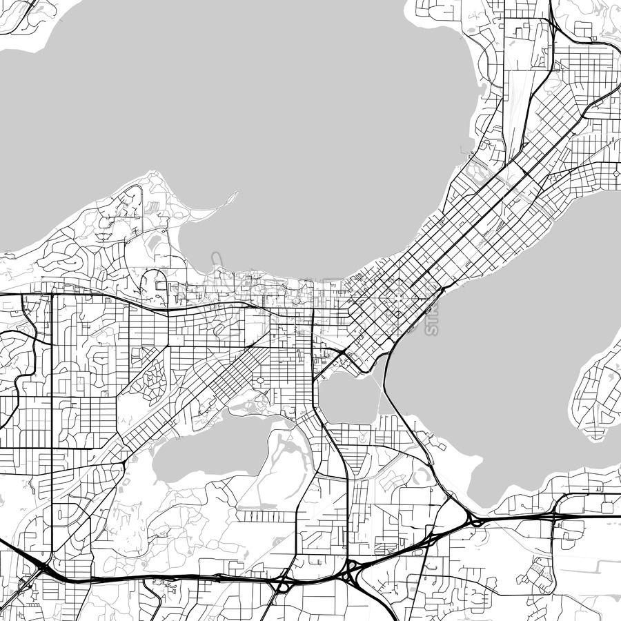 Map of Madison, Wisconsin | City skylines game, Urban design ...