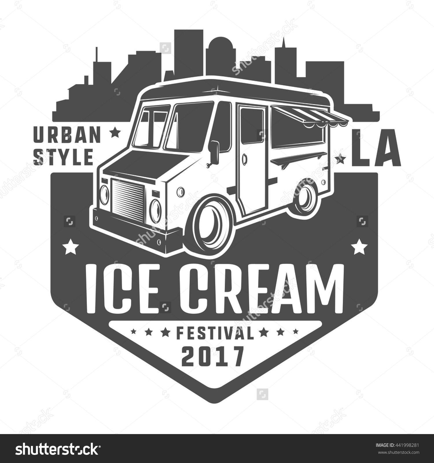 Street Food Truck Ice Cream T Stock Vector Shutterstock