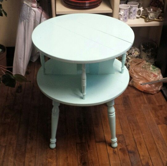 New project in the shop.  Working on this lovely little table. #project #painted #table #upcycle #furniture #ideas